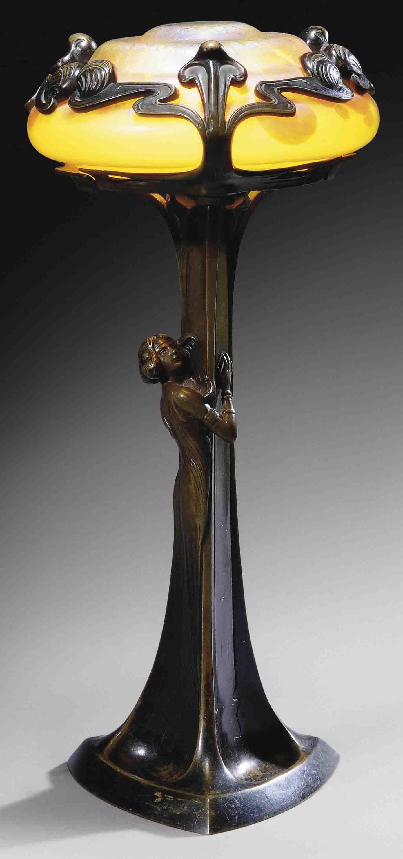 Austrian Figural Table Lamp Circa 1900 Christie S