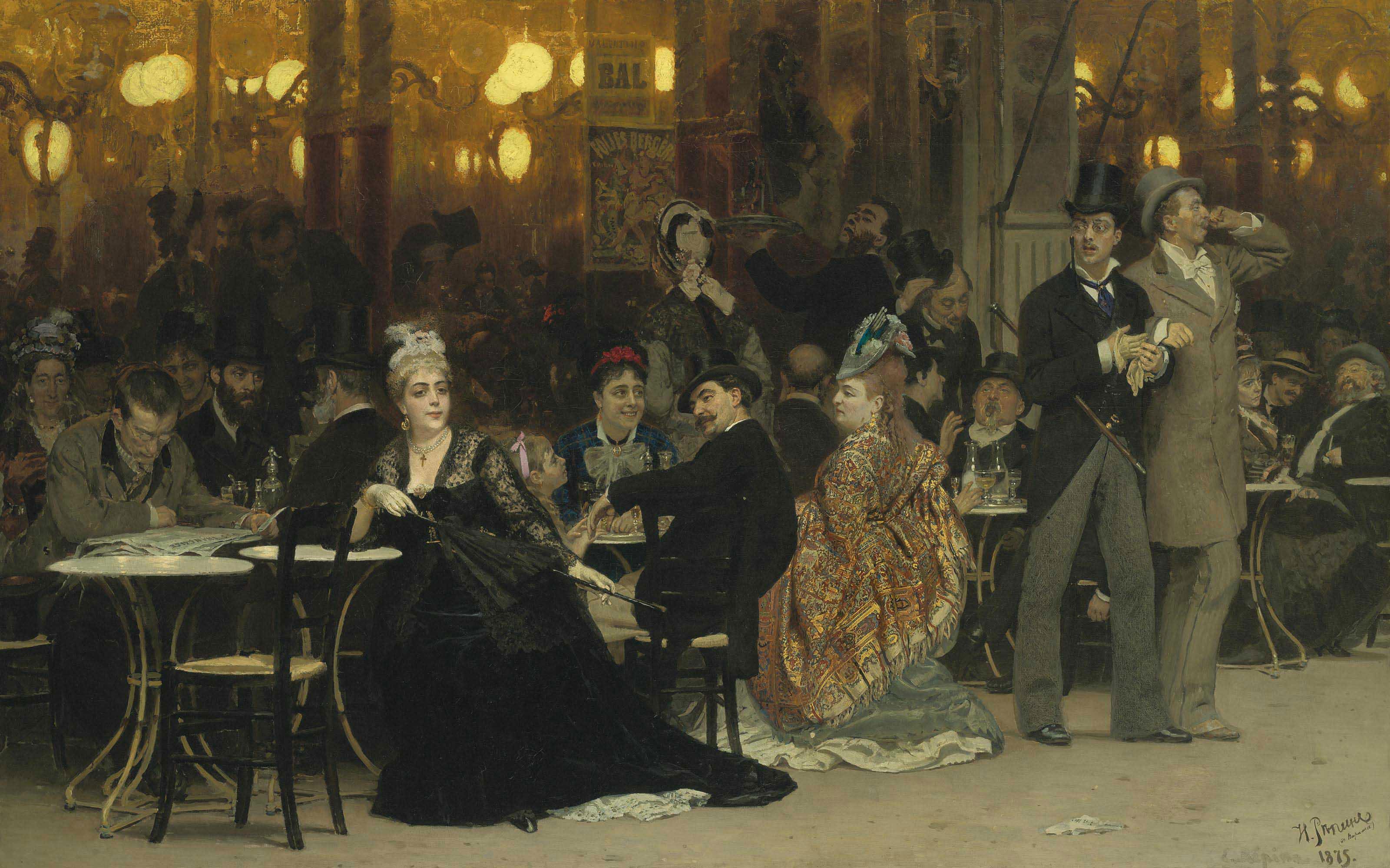 Audio: Ilya Repin's A Parisian Café
