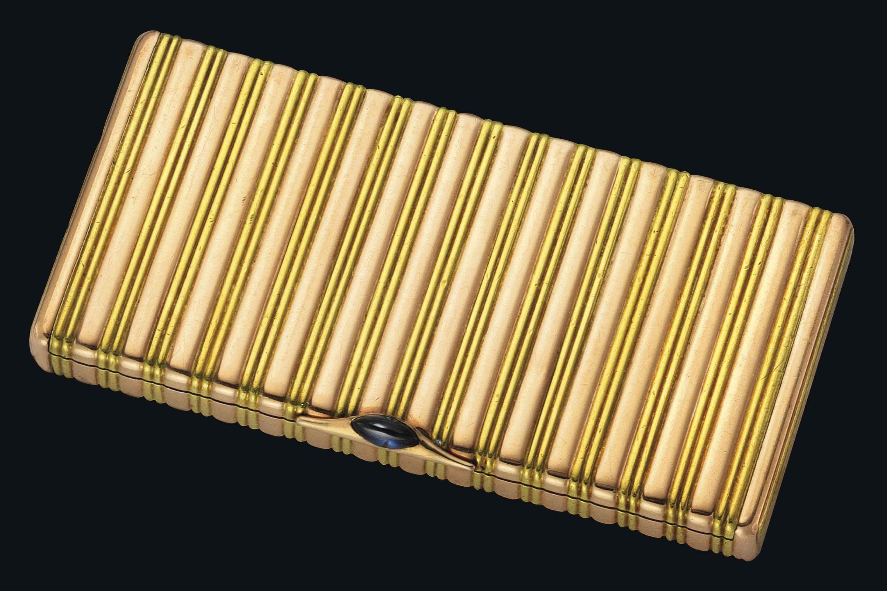 A TWO-COLOUR GOLD CARD CASE