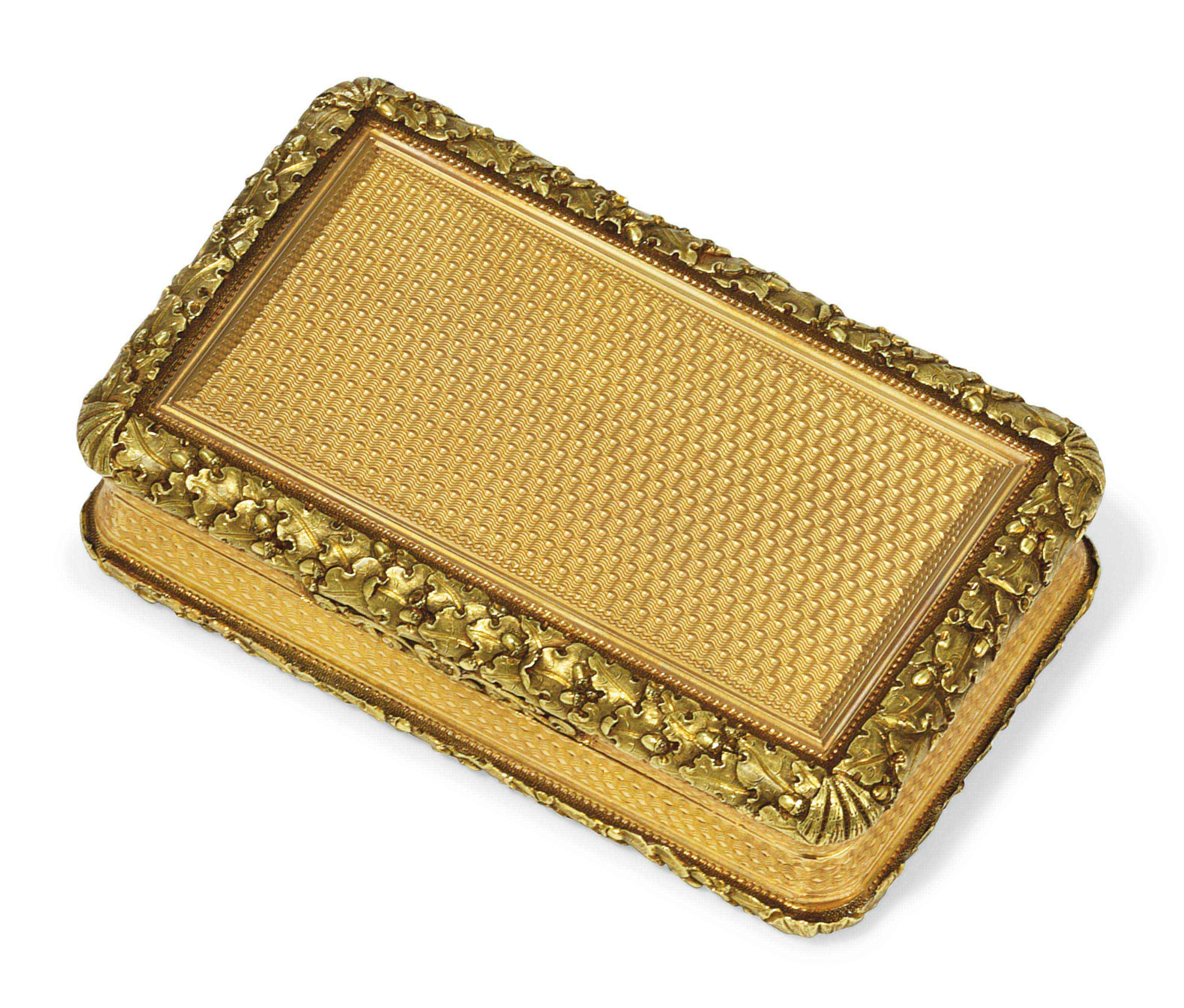 A REGENCY GOLD SNUFF-BOX