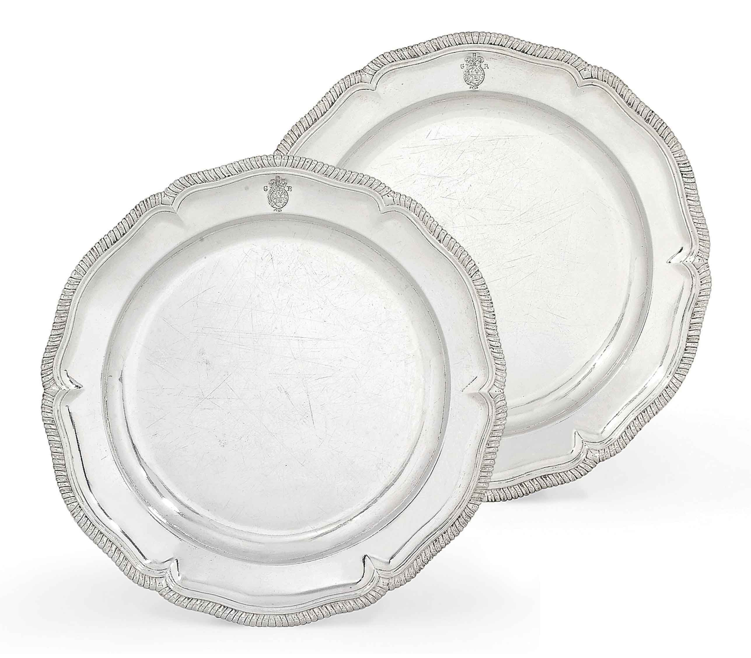 A PAIR OF GEORGE II SILVER SECOND-COURSE DISHES