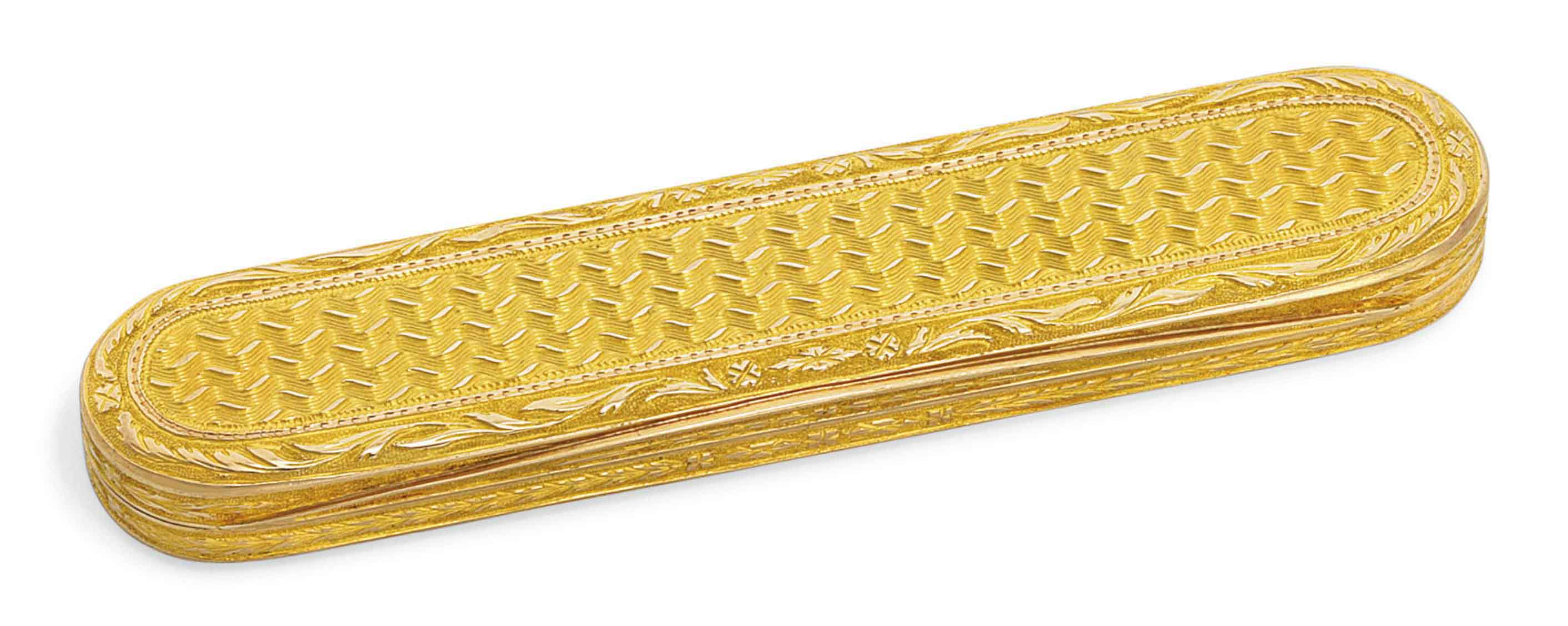 A FRENCH GOLD TOOTH-PICK CASE
