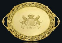AN IMPORTANT GEORGE III SILVER-GILT TRAY