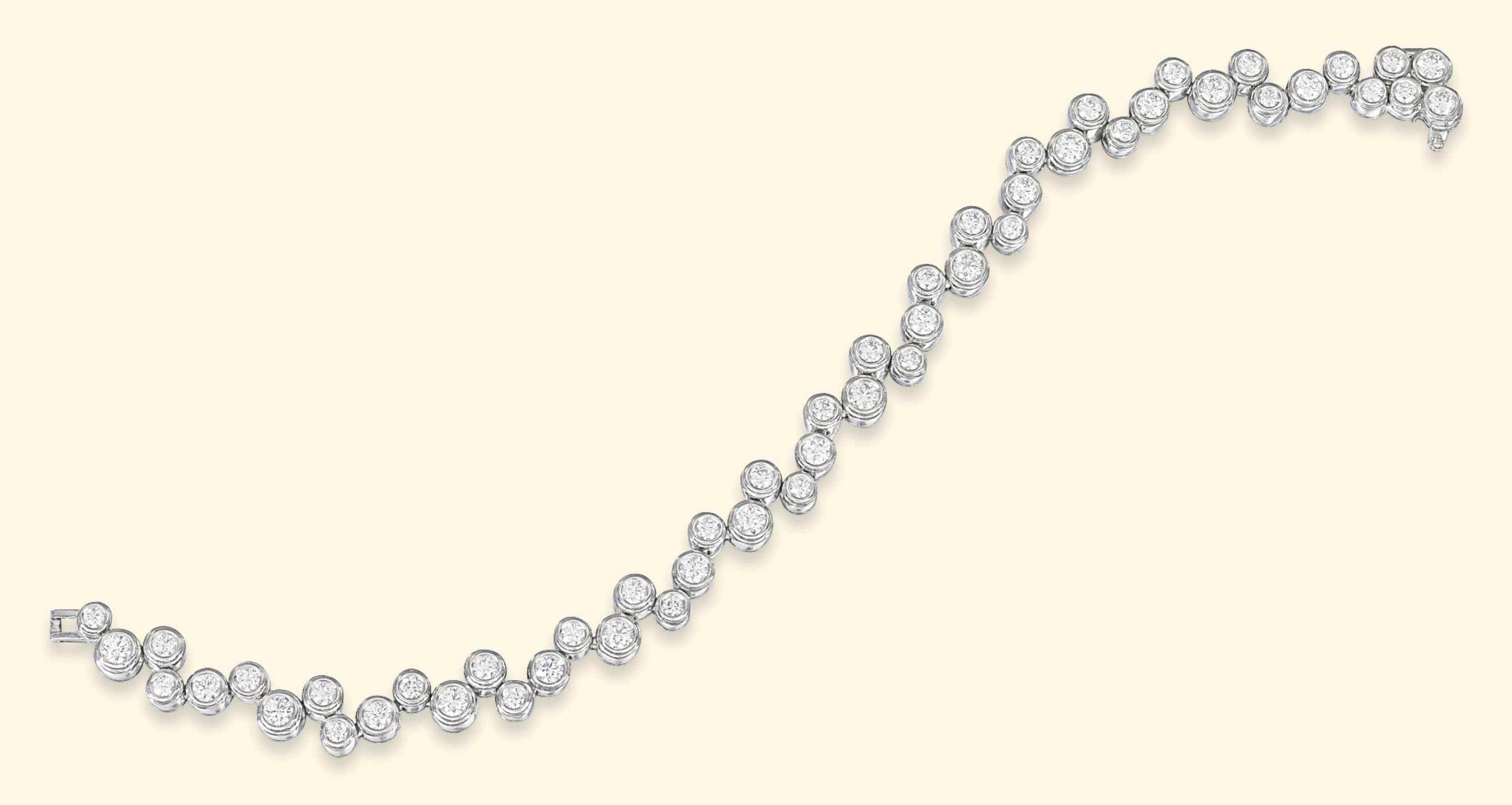 A DIAMOND 'JAZZ' BRACELET, BY TIFFANY & CO.