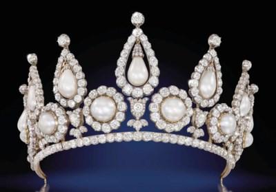 AN HISTORIC PEARL AND DIAMOND