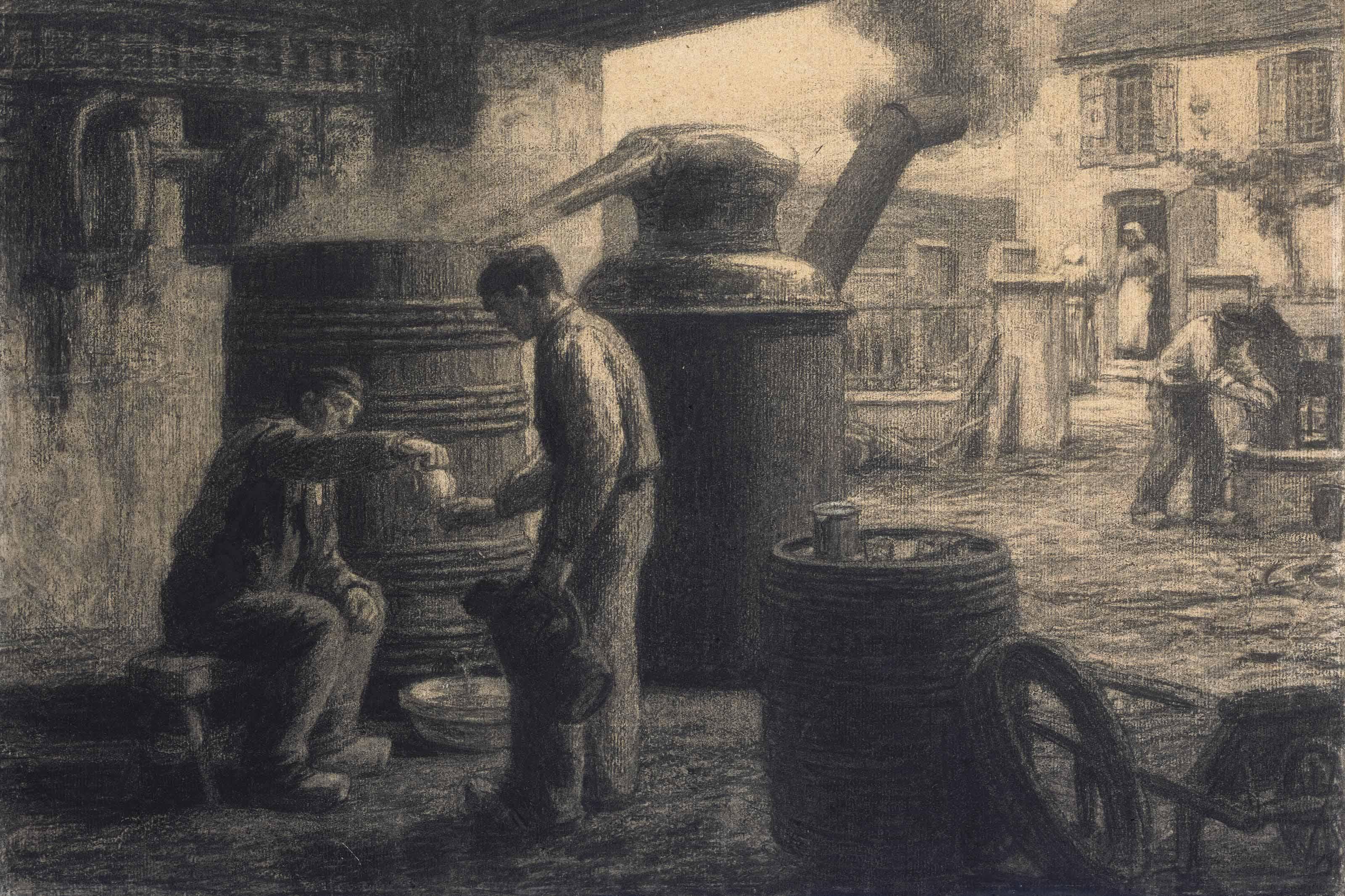 Les dégustateurs d'eau-de-vie-de marc ou L'Alambic