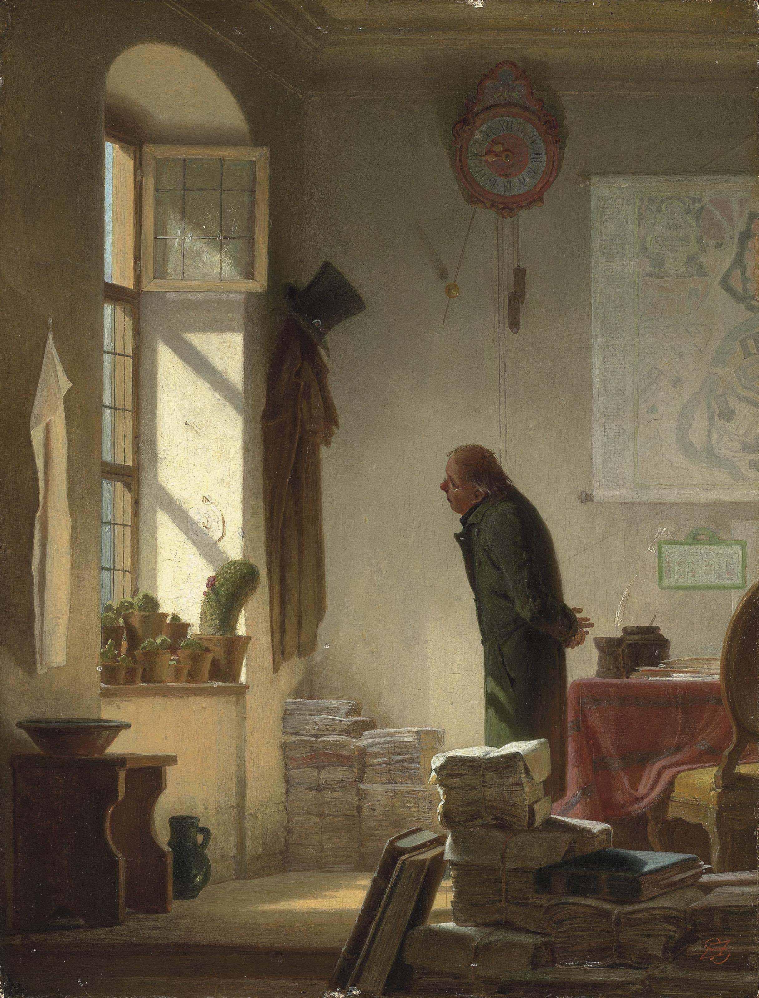 carl spitzweg german 1808 1885 der kaktusliebhaber christie 39 s. Black Bedroom Furniture Sets. Home Design Ideas