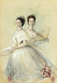 Portrait of Czarina Maria Feodorovna and her sister Alexandra, Princess of Wales