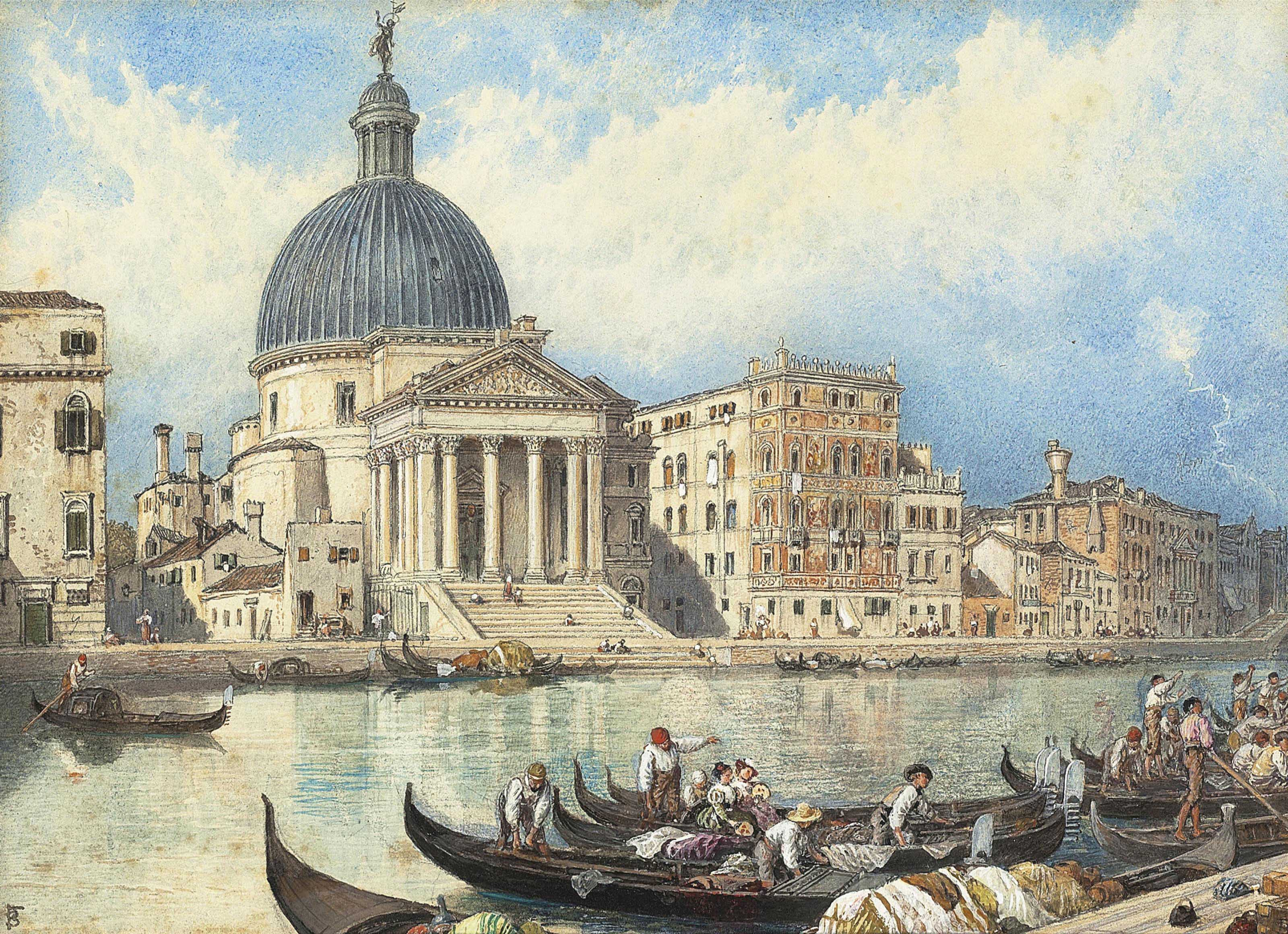 The Church of San Simone and San Judi, Venice: The arrival of a train
