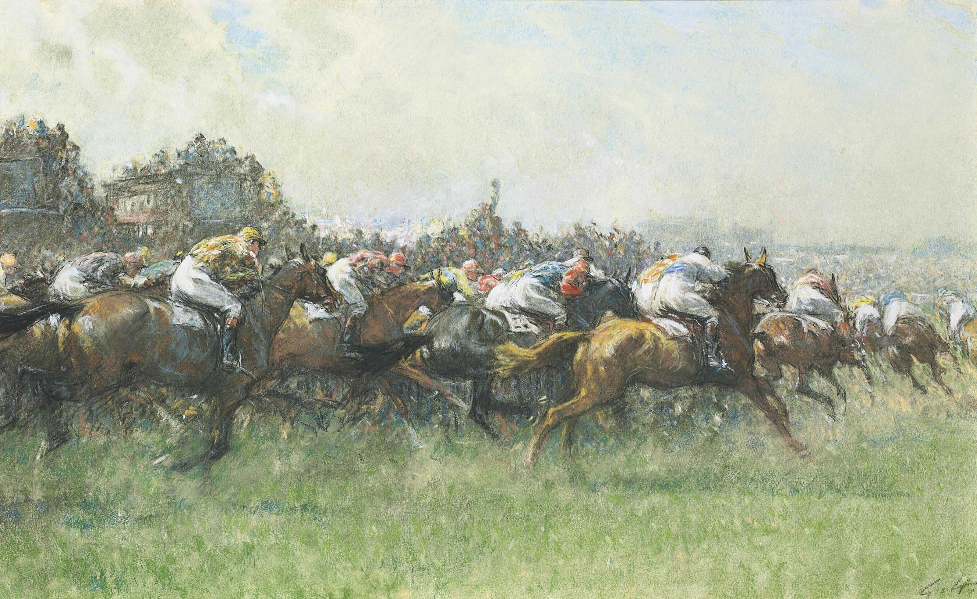 Tattenham Corner, the Epsom Derby