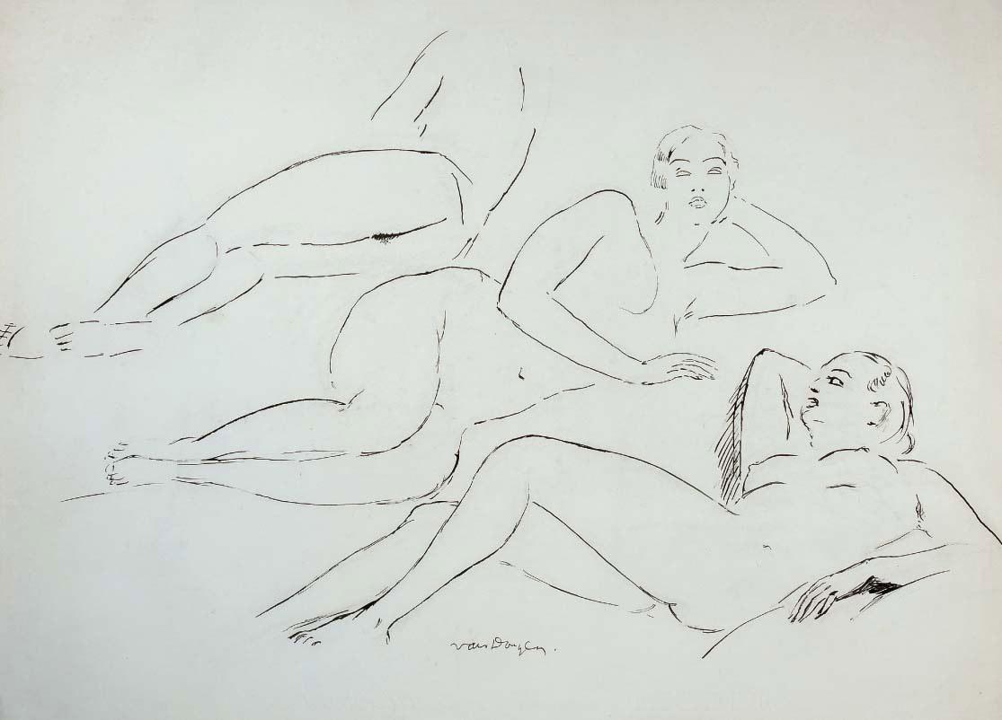 Trois nus allongés