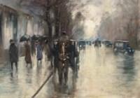 Unter den Linden im Regen