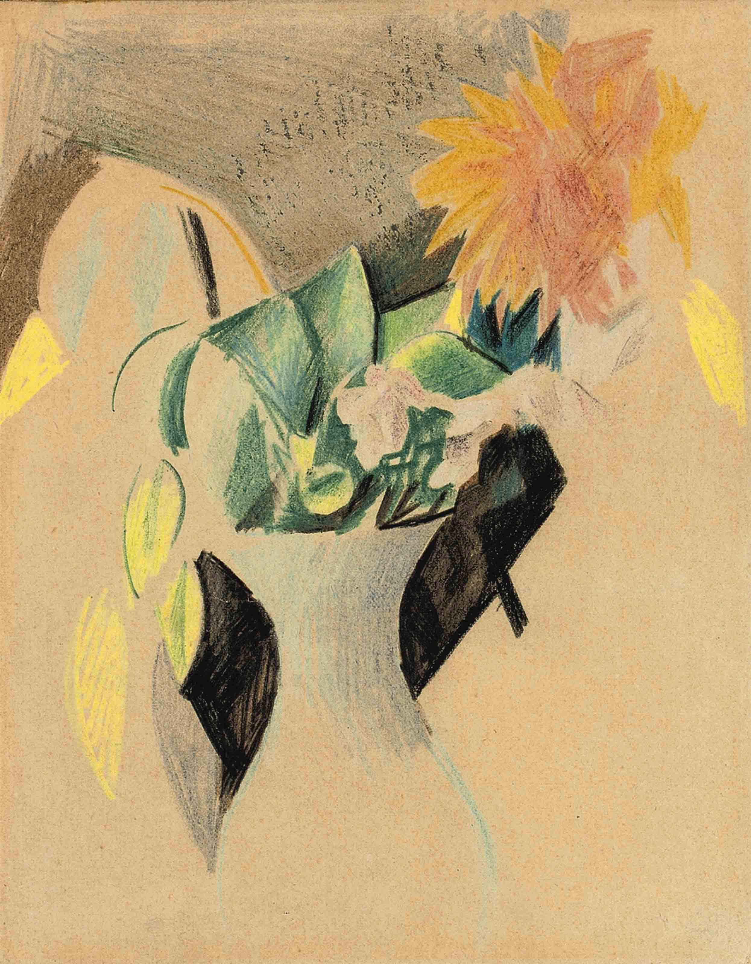 Blumen in weisser Vase II