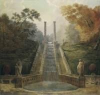 The Cascade in the Gardens of the Teatro dell' Acqua behind the Villa Aldobrandini, Frascati