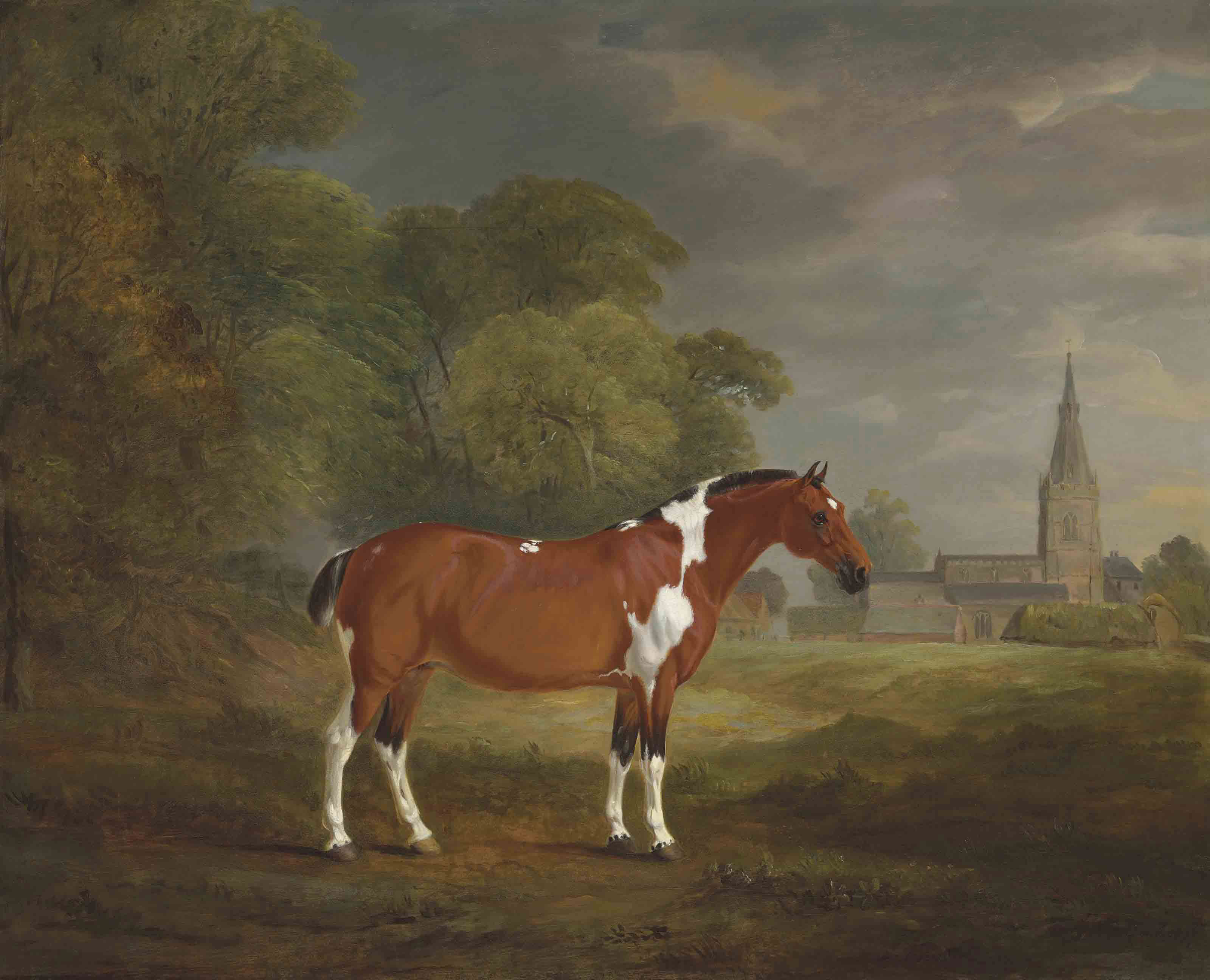 Pat, a skewbald cob belonging to Colonel John Frewen Turner (1755-1829), of Cold Overton Hall, Leicestershire