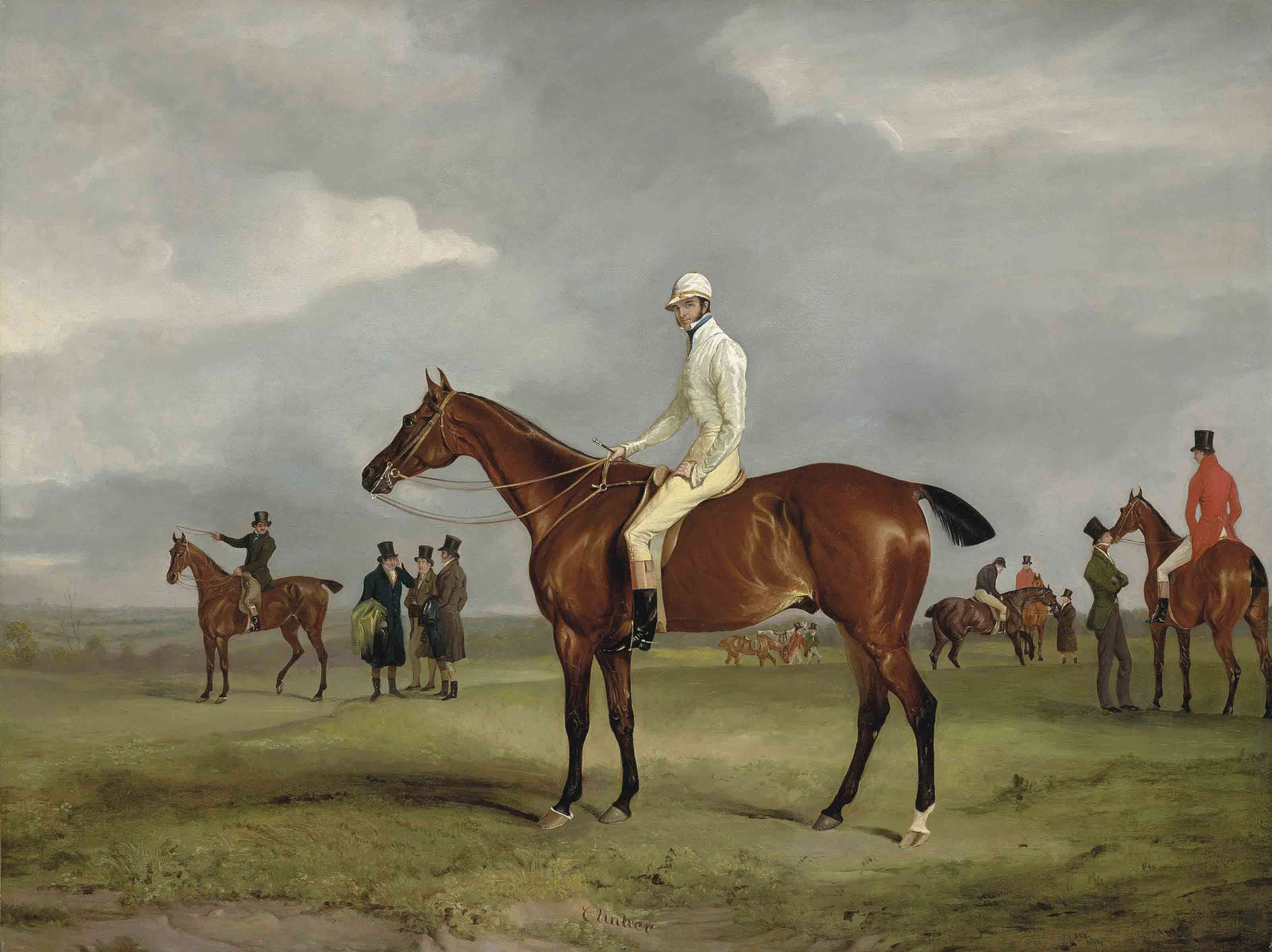 Clinker with Captain Horatio Ross up, Radical with Captain Douglas up and other horses beyond
