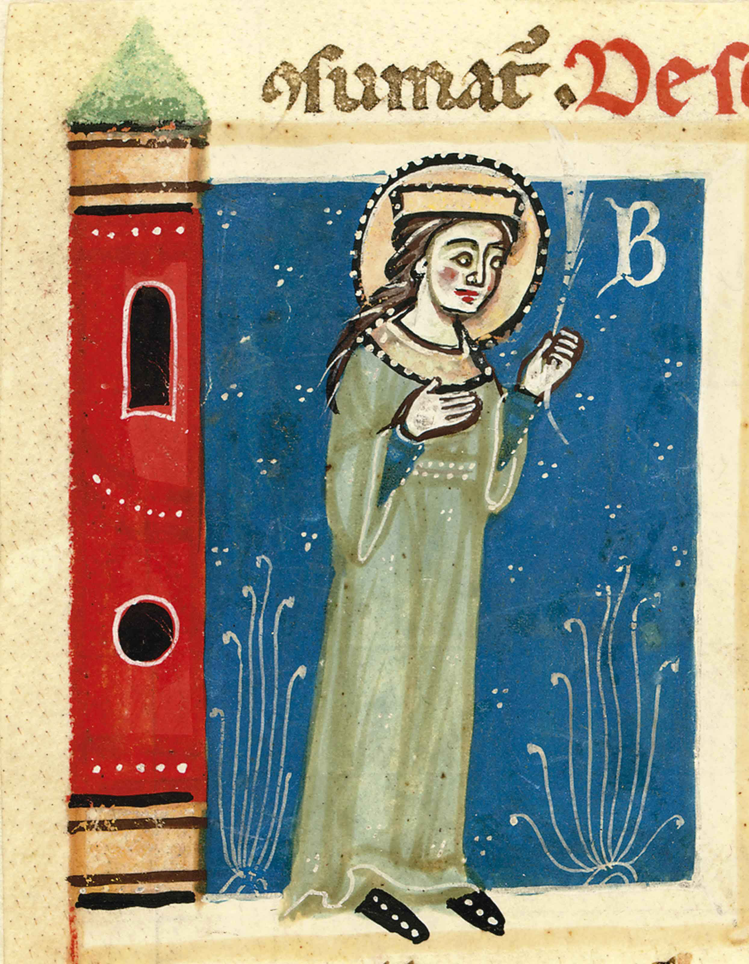 ST BARBARA, miniature by the M