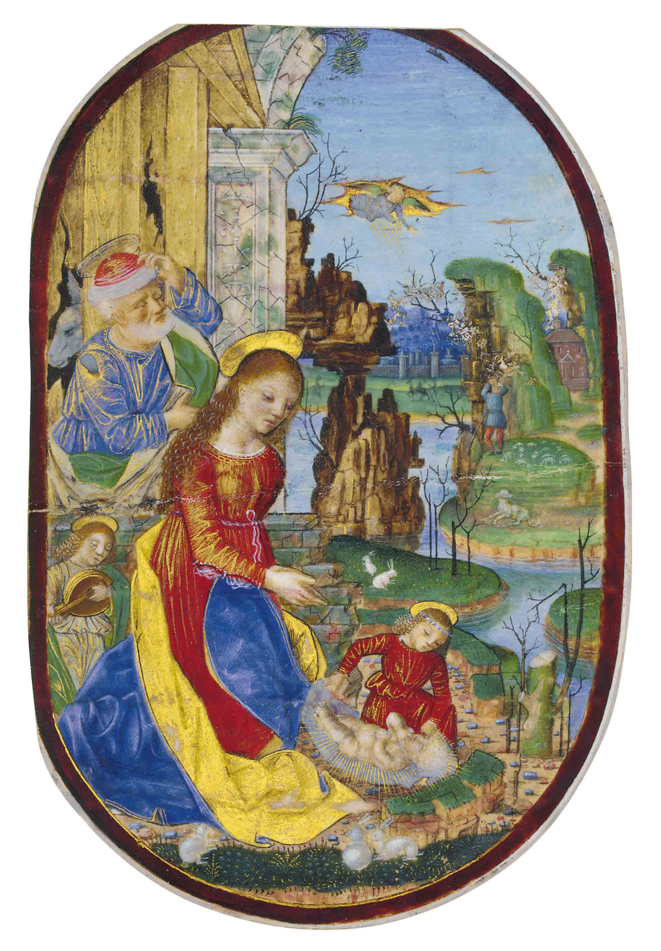 NATIVITY, WITH THE VIRGIN IN A