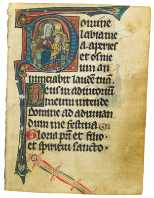 BOOK OF HOURS, use apparently