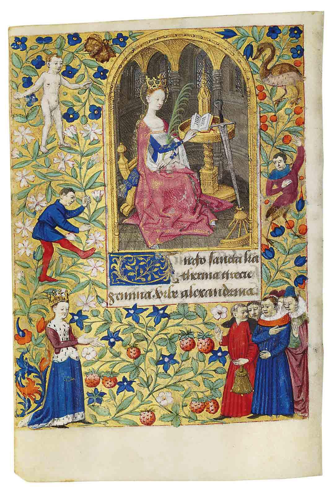 BOOK OF HOURS, use of Rome, in Latin, ILLUMINATED MANUSCRIPT ON VELLUM