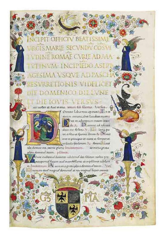 THE GREAT HOURS OF GALEAZZO MARIA SFORZA, DUKE OF MILAN, use of Rome, in Latin and Italian, ILLUMINATED MANUSCRIPT ON VELLUM