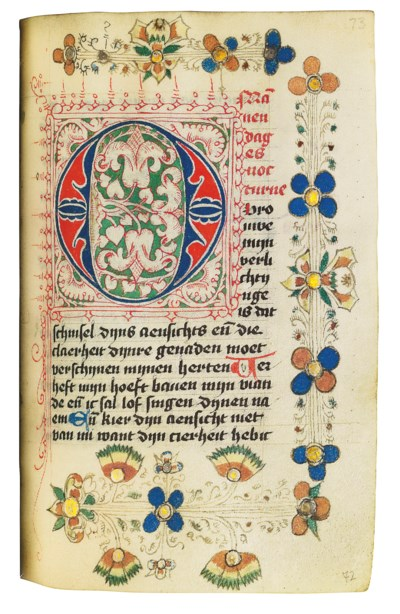 BOOK OF HOURS AND PRAYERBOOK,