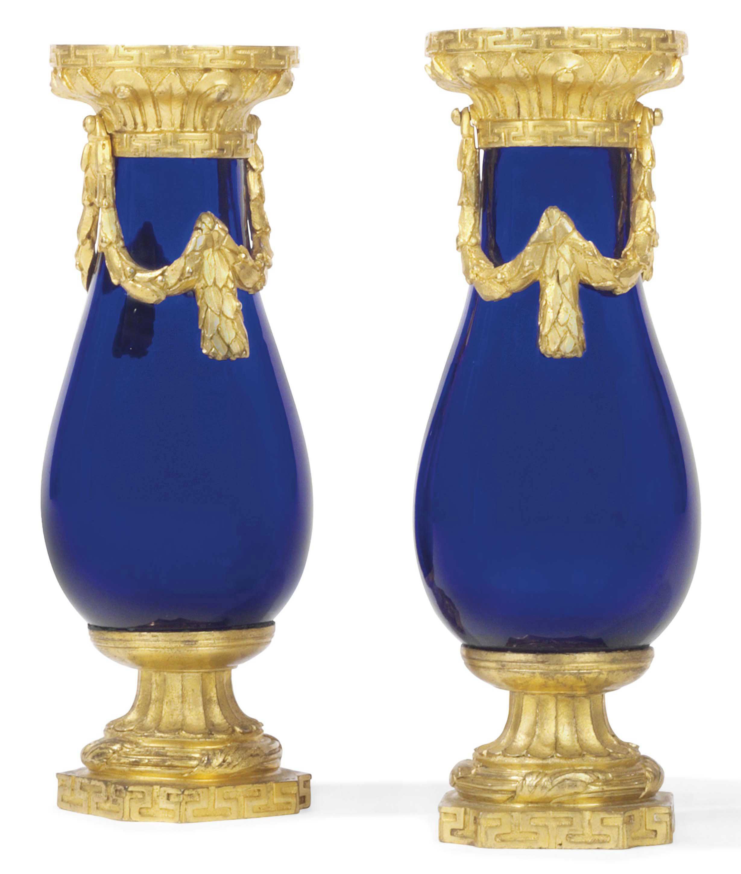 A PAIR OF LOUIS XVI ORMOLU AND