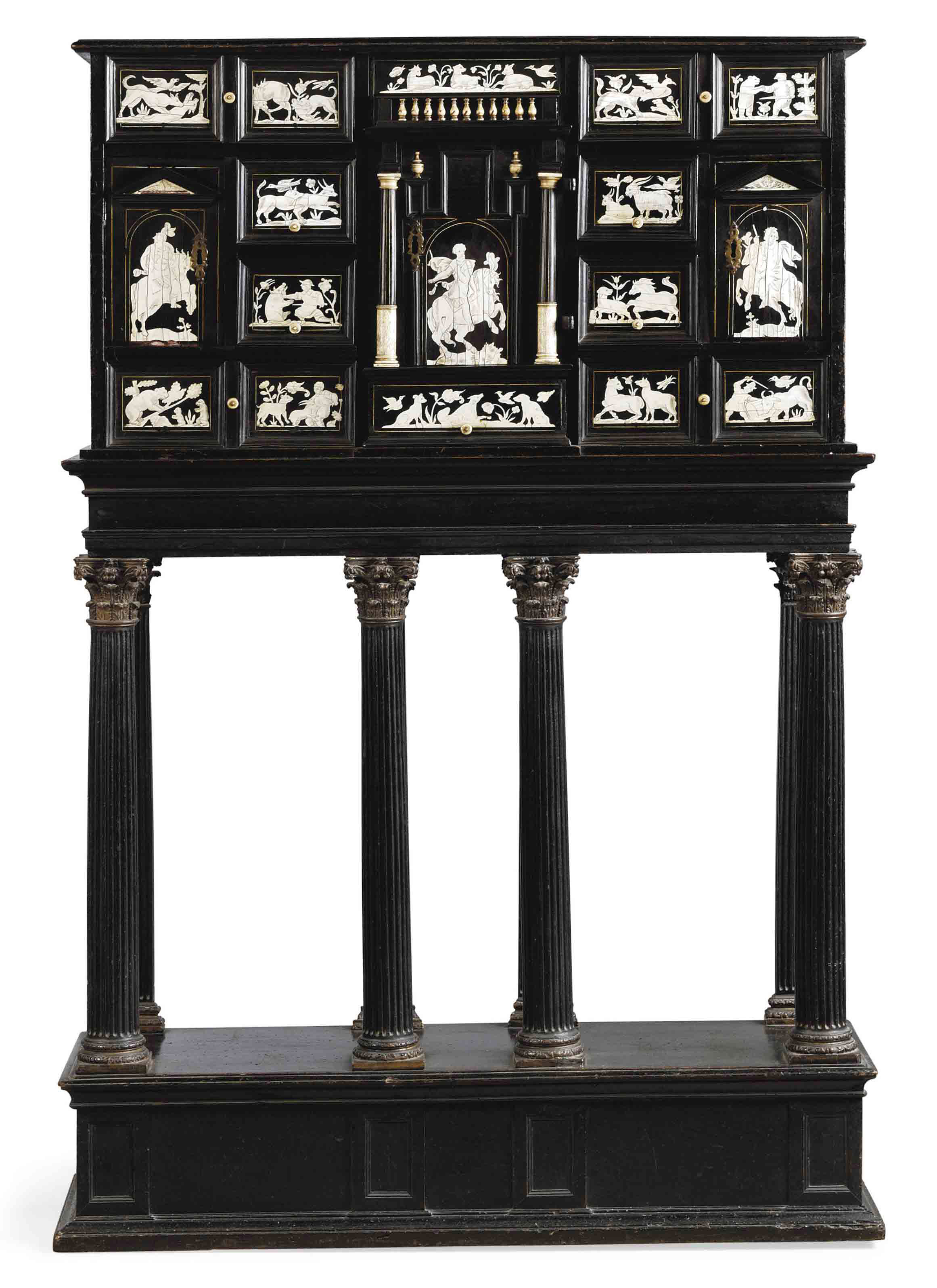 A NORTH ITALIAN IVORY-INLAID E