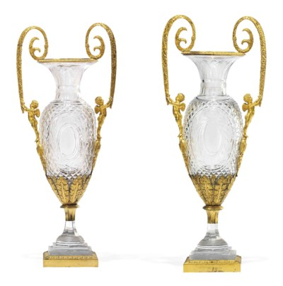 A PAIR OF RUSSIAN ORMOLU-MOUNT