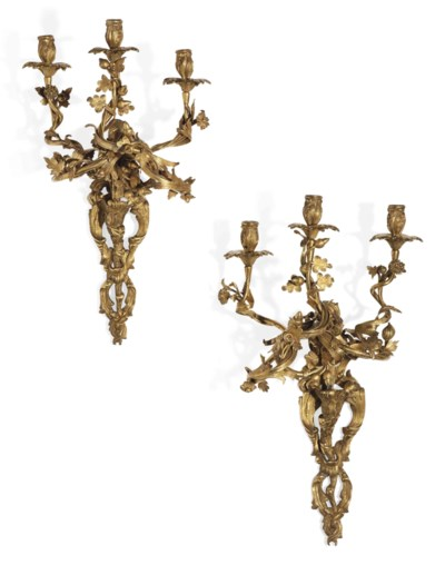 A PAIR OF NORTH ITALIAN ORMOLU