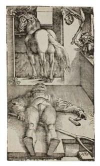 Sleeping Groom and a Sorceress (Bartsch 15; Hollstein 237)
