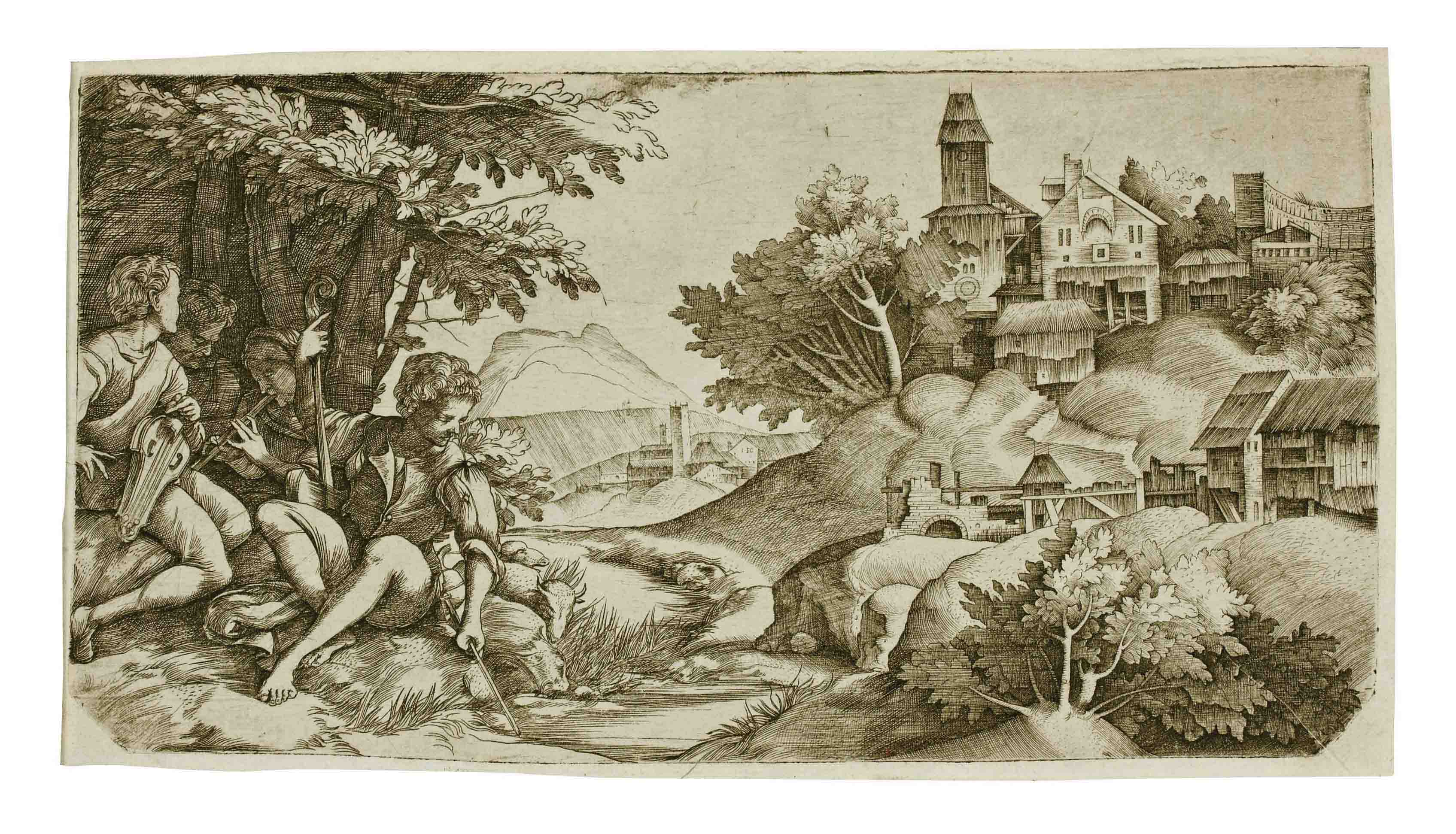 Shepherds in a Landscape (B. 9; Hind 6)