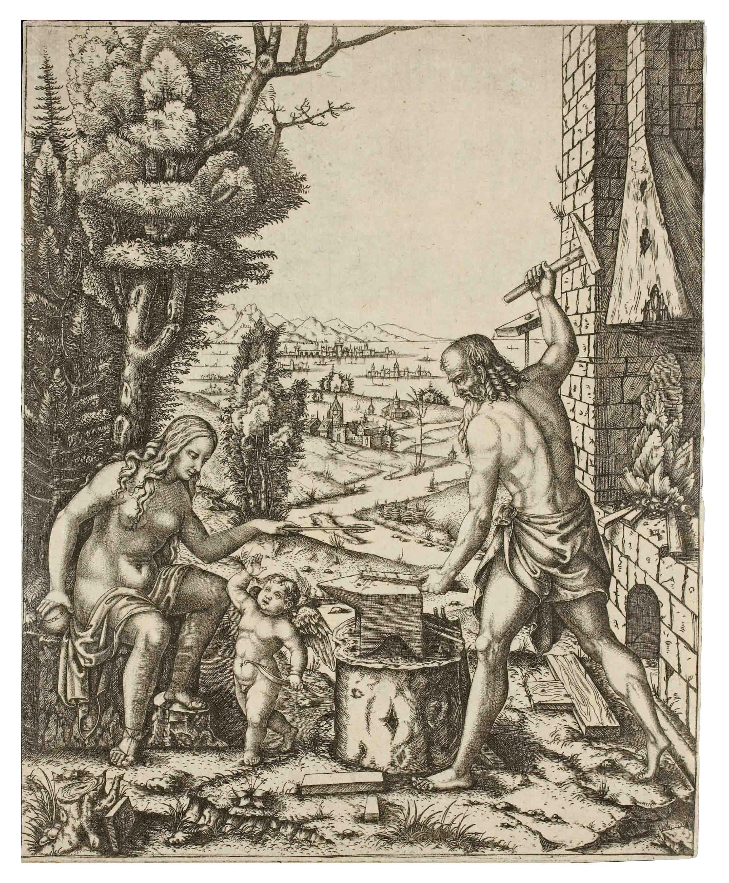 Vulcan, Venus and Eros (B. 326)