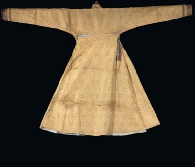 A MONGOL 'CLOTH OF GOLD' SILK