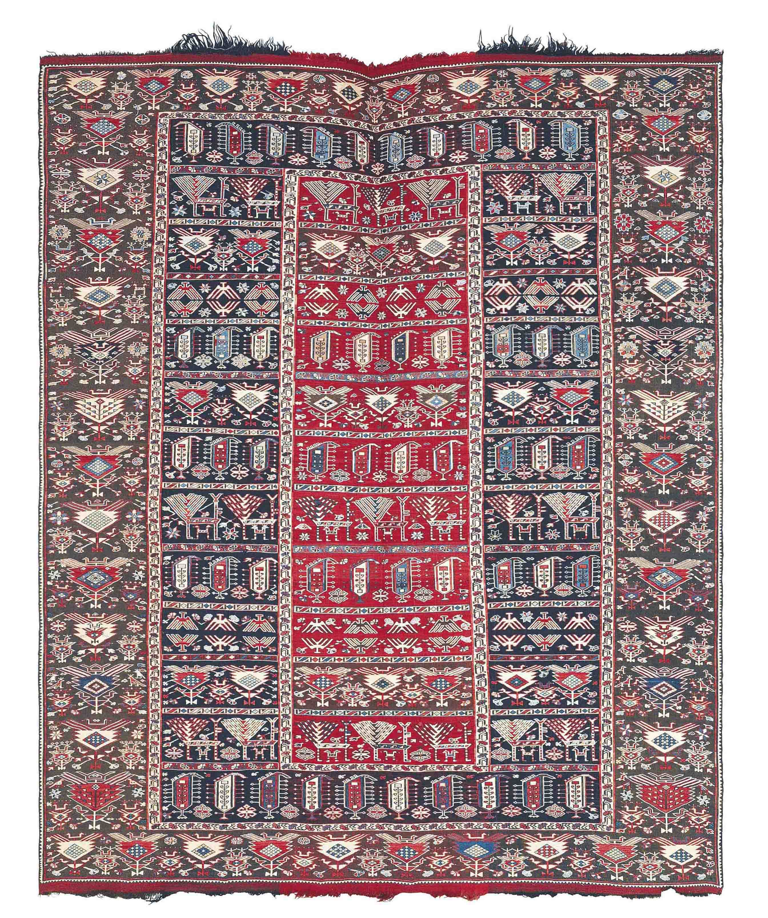 A PART-COTTON VERNEH RUG