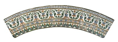 A SPANISH ARISTA ARCHED TILE P