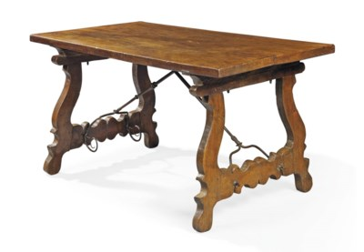 A SPANISH WALNUT CENTRE TABLE