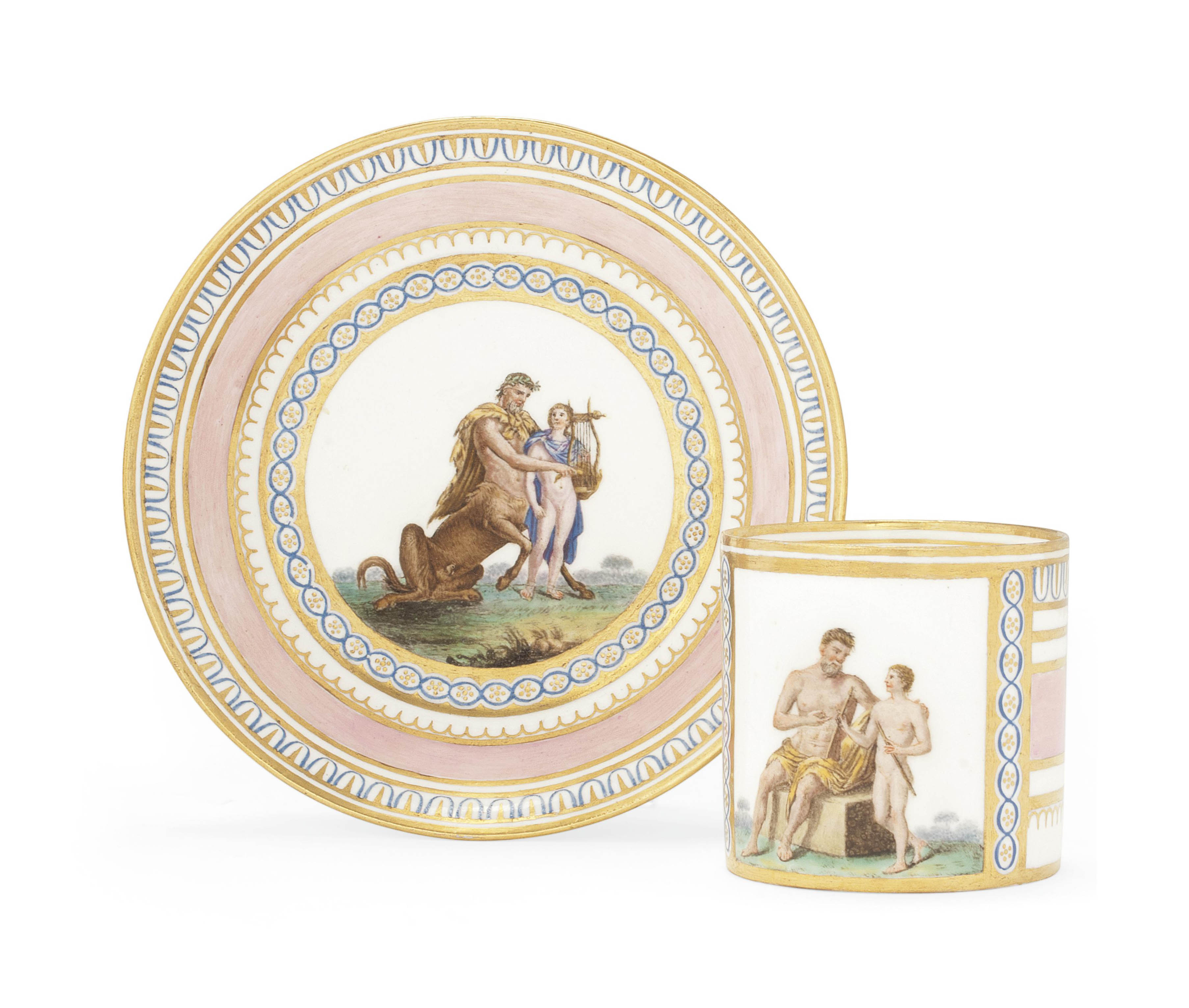 A NAPLES (REAL FABBRICA FERDINANDEA) COFFEE-CAN AND SAUCER