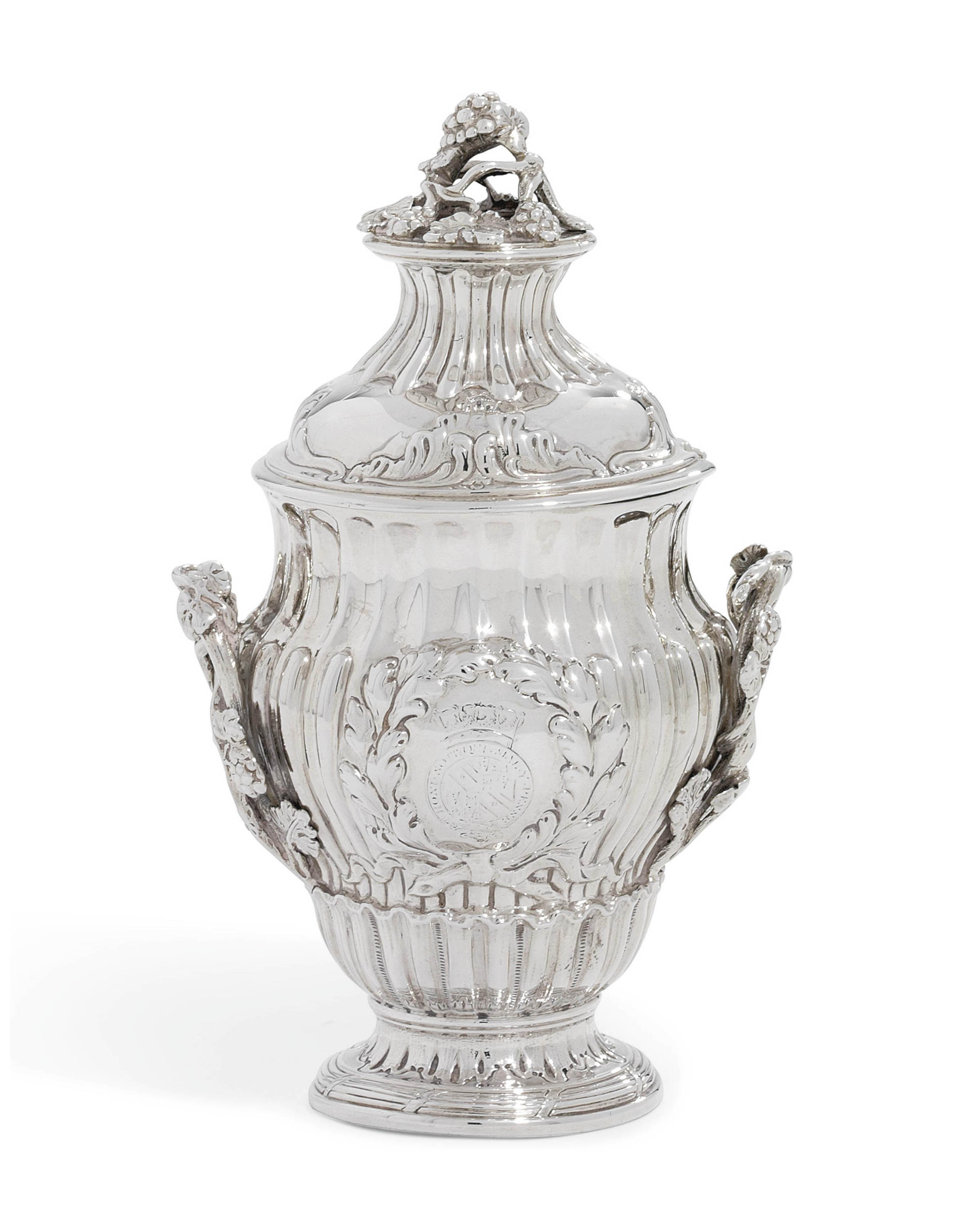 A GEORGE III SILVER CONDIMENT-VASE