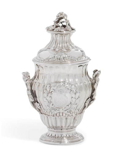 A GEORGE III SILVER CONDIMENT-