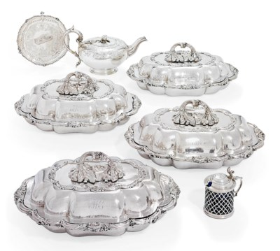A GROUP OF VICTORIAN SILVER AN