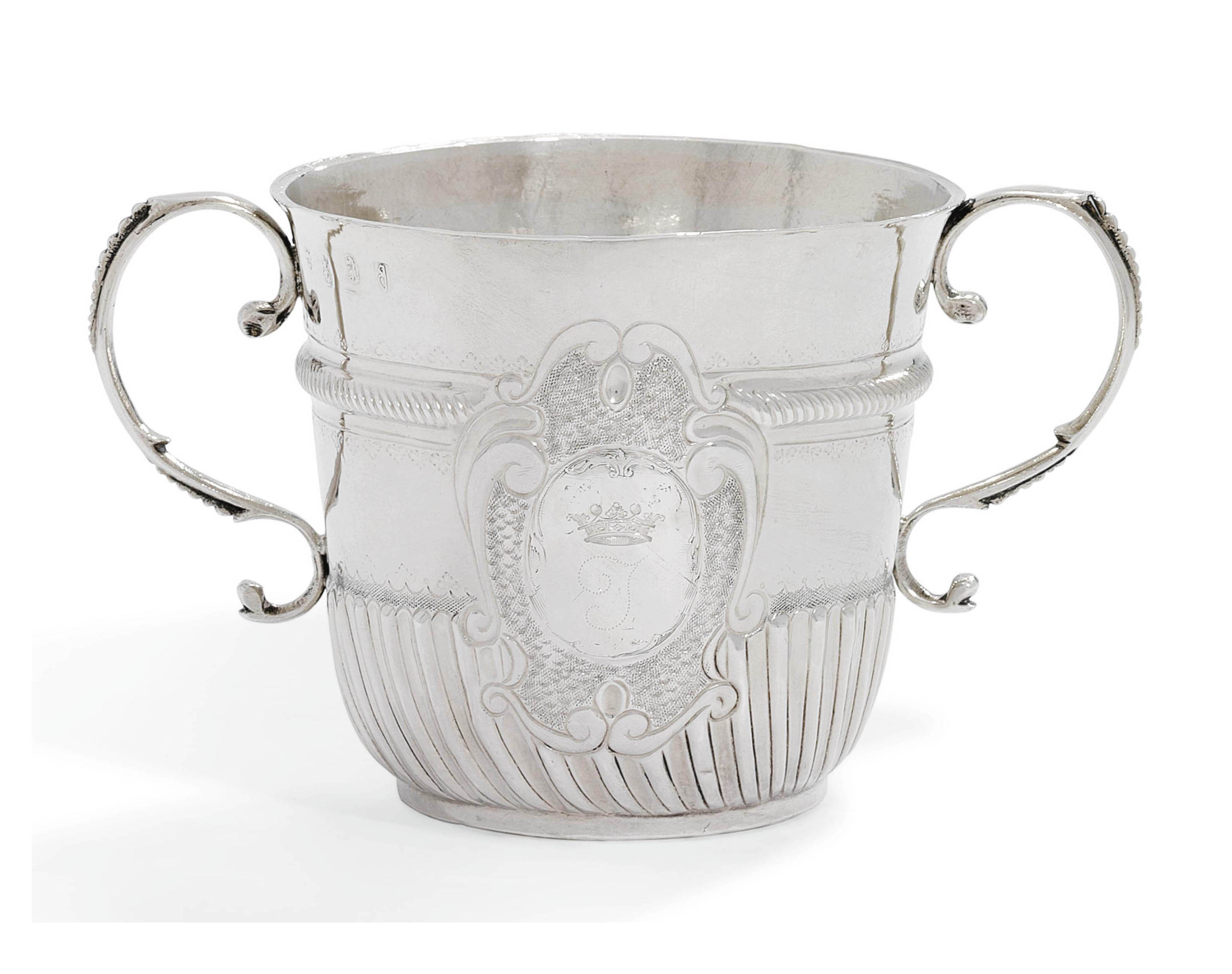 A QUEEN ANNE SILVER PORRINGER