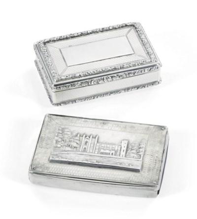 A WILLIAM IV SILVER SNUFF-BOX