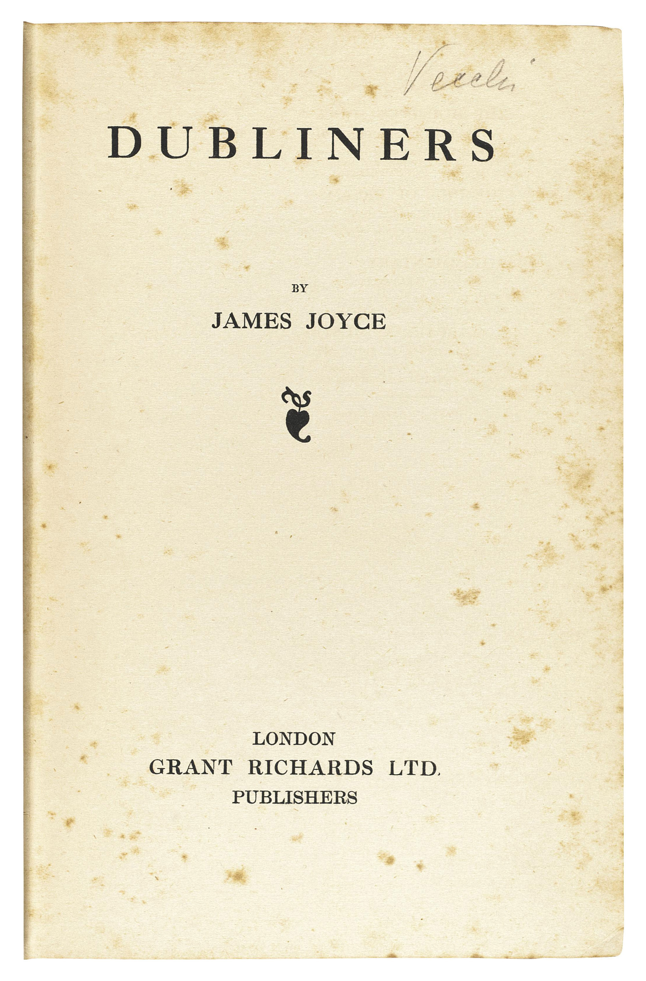 JOYCE, James (1882-1941). Dubliners. London: Grant Richards, 1914.