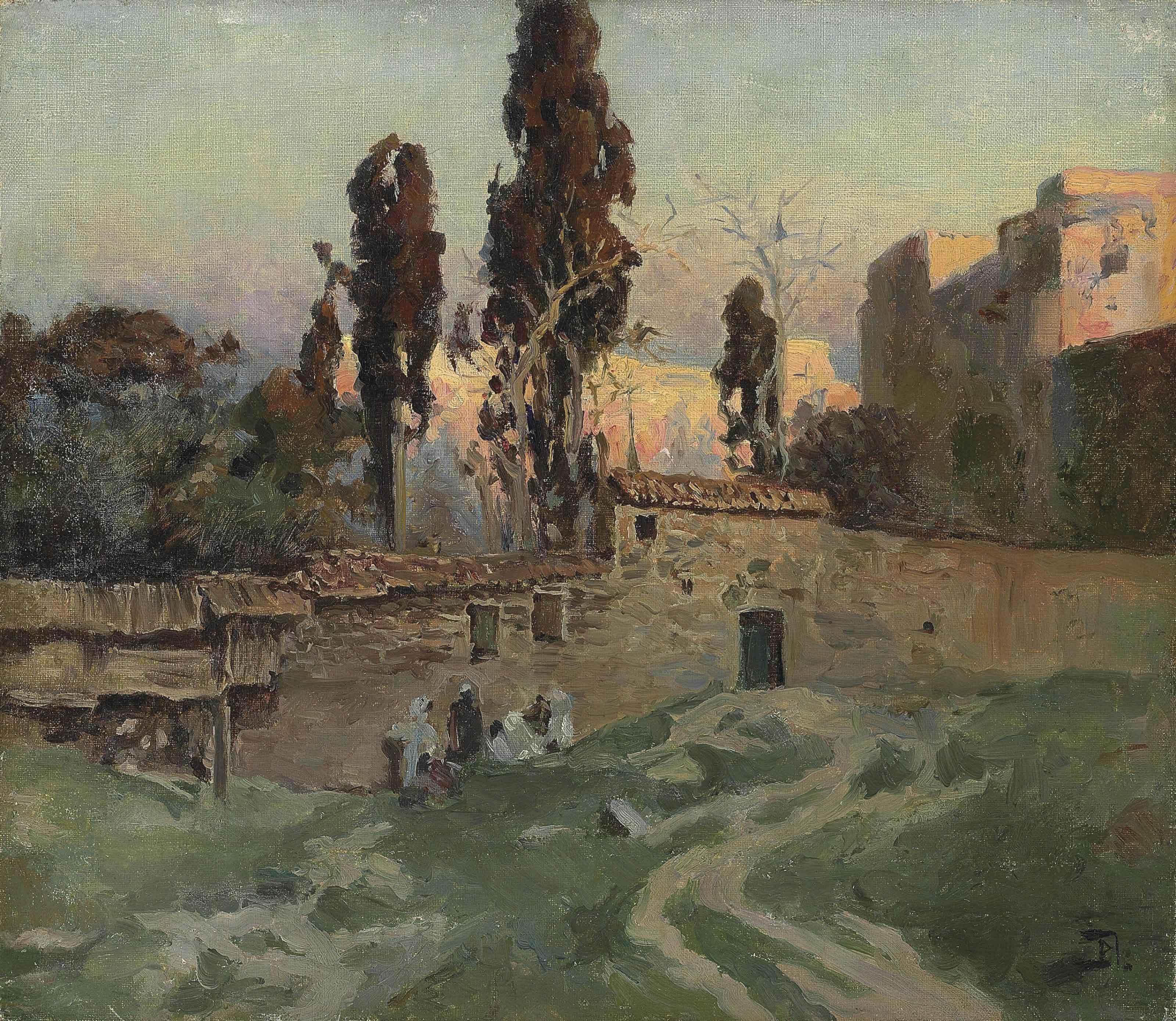 The garden of Eski Saray in Constantinople