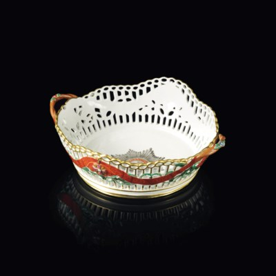 A PORCELAIN BASKET FROM THE SE