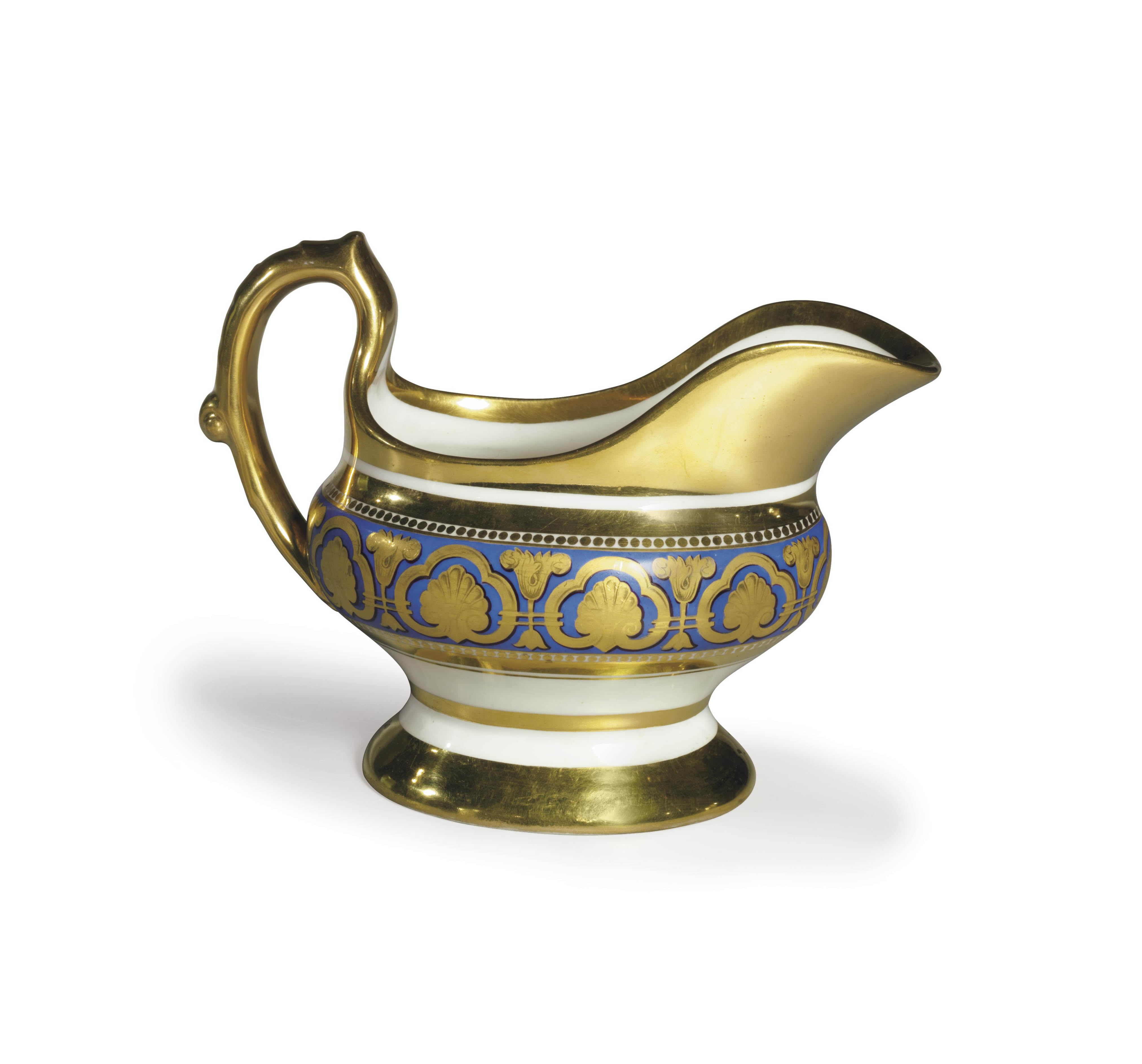 A PORCELAIN SAUCEBOAT FROM THE ROPSHA SERVICE