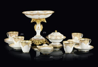 AN ORMOLU-MOUNTED PORCELAIN TA