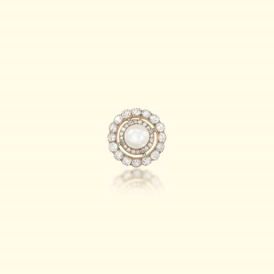 A VICTORIAN NATURAL PEARL AND
