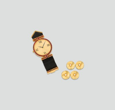 A RUBY FOB WATCH, BY CHAUMET A